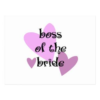 Carte Postale Patron de la jeune mariée