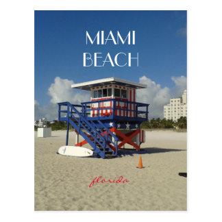 Carte Postale Patrouille #02 d'océan de maître nageur de Miami