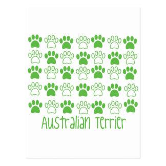 Carte Postale Patte par la patte Terrier australien