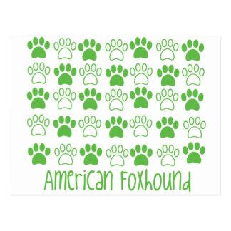 Carte Postale Patte par le fox-hound américain de patte
