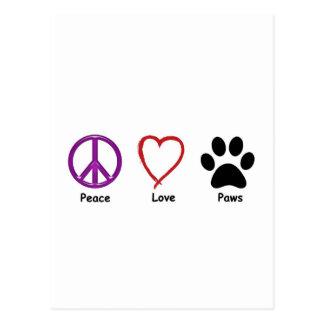 Carte Postale Pattes d'amour de paix