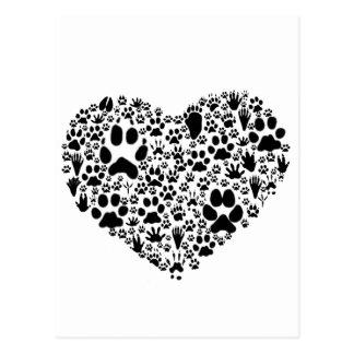 Carte Postale Pattes du coeur
