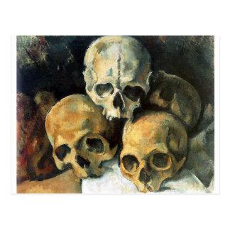 Carte Postale Paul Cézanne - pyramide des crânes