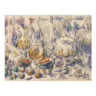Carte Postale Paul Cezanne - soupière de pot et de soupe