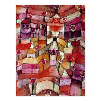 Carte Postale Paul Klee - roseraie