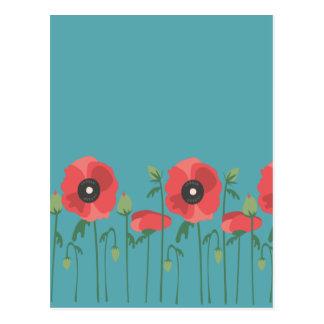 Carte Postale Pavots de floraison de printemps