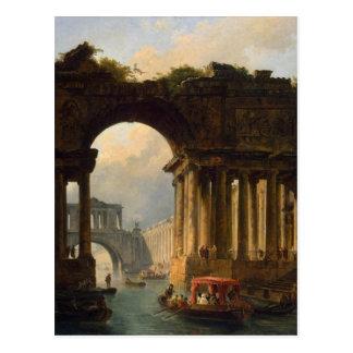 Carte Postale Paysage architectural avec un canal par Hubert