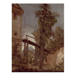 Carte Postale Paysage avec une passerelle, c.1518-20