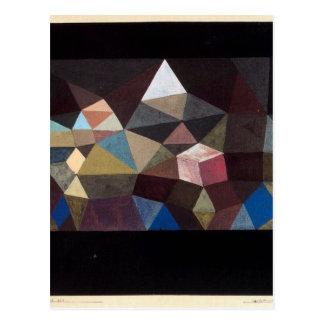 Carte Postale Paysage cristallin par Paul Klee