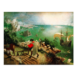 Carte Postale Paysage de Pieter Bruegel avec l'automne d'Icare