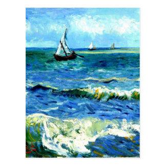Carte Postale Paysage marin chez Saintes-Maries, Vincent van