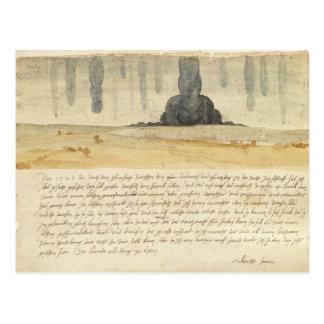 Carte Postale Paysage rêveur avec le texte, 1526