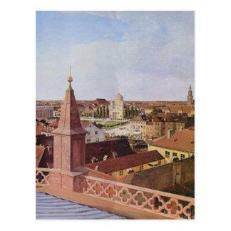 Carte Postale Paysage urbain - Eduard Gaertner