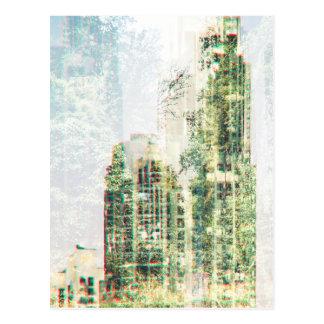 Carte Postale Paysage urbain et forêt