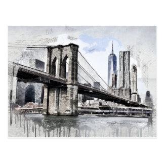 Carte Postale Paysage urbain Etats-Unis de ville d'horizon