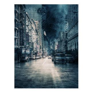 Carte Postale Paysage urbain orageux