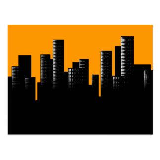 Carte Postale paysage urbain orange
