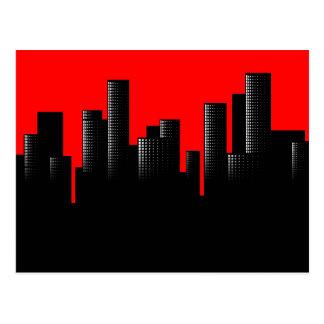 Carte Postale paysage urbain rouge