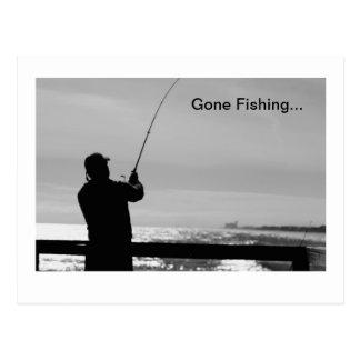 Carte Postale Pêche allée