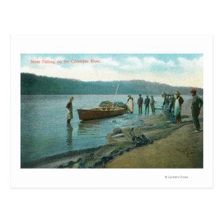 Carte Postale Pêche de la Seine sur la rivière de RiverColumbia,