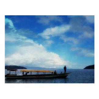 Carte Postale Pêche. Halmahera est. L'Indonésie