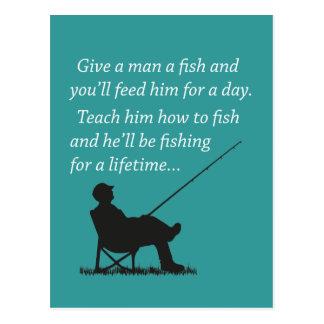 Carte Postale Pêche pour une vie
