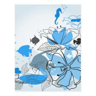 Carte Postale Pêche une fleur
