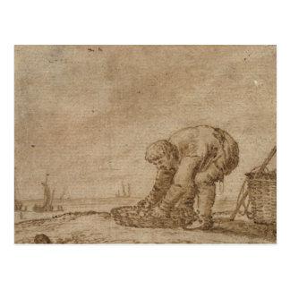 Carte Postale Pêcheur sur le bord de mer, 1623