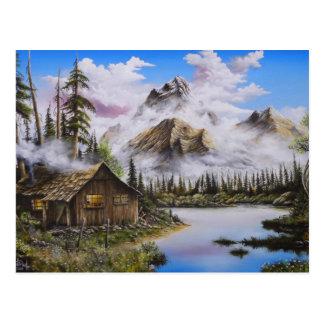 Carte Postale Peinture à l'huile de solitude d'été par David