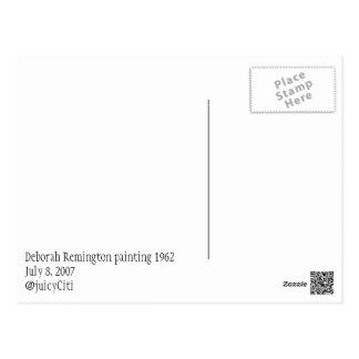 Carte Postale Peinture abstraite 1962 de Deborah Remington