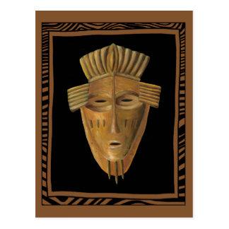 Carte Postale Peinture africaine de masque par Chariklia Zarris