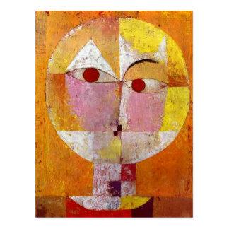 Carte Postale Peinture de Senecio de Paul Klee