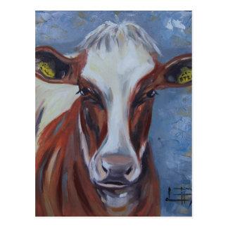Carte Postale Peinture de vache, décor de vache, art de vache,
