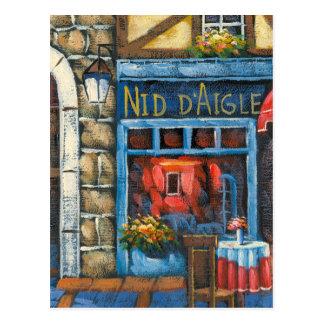 Carte Postale Peinture d'un restaurant français