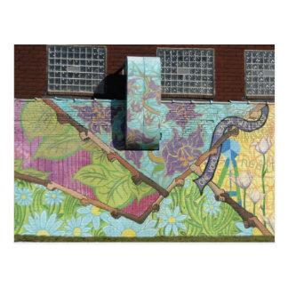 Carte Postale Peinture murale colorée, Pittsburgh, PA