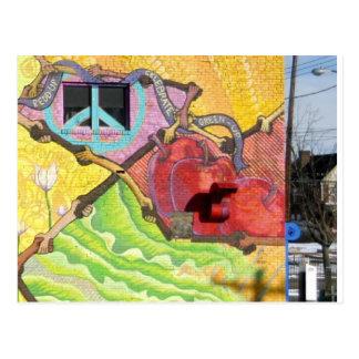 Carte Postale Peinture murale dans la PA de Pitttsburgh (région