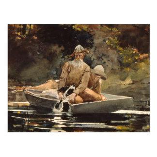 Carte Postale Peinture Pêche-Historique