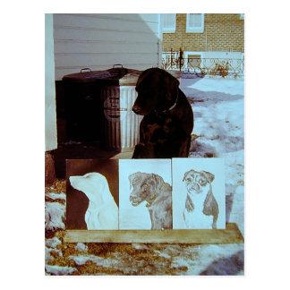 Carte Postale Peintures de chien