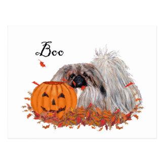 Carte Postale Pekingese Halloween