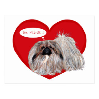 Carte Postale Pekingese Valentine