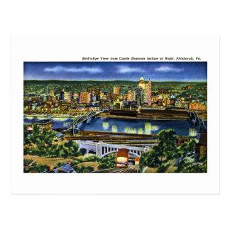 Carte Postale Pente de Shannon de château, Pittsburgh, PA