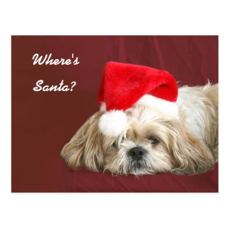 Carte Postale Père Noël de attente