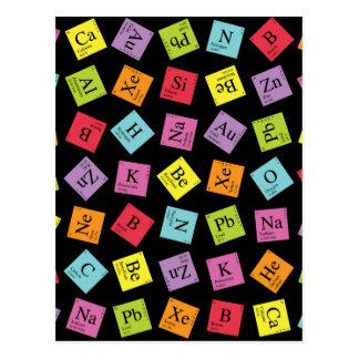Carte Postale Périodiques élémentaires (foncé)