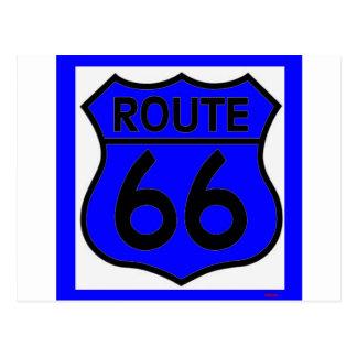 Carte Postale Personnaliser bleue de l'itinéraire 66 il !