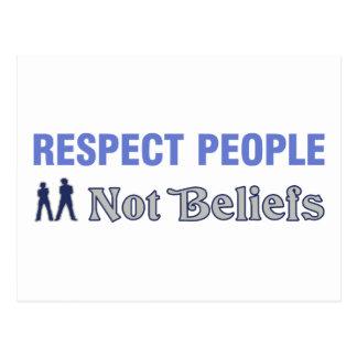 Carte Postale Personnes de respect, pas croyances