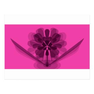 Carte Postale Pétales roses transparents de fleur