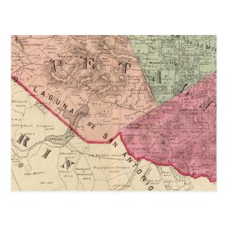 Carte Postale Petaluma et banlieues noires de Vallejo