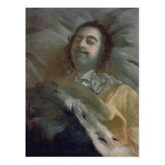Carte Postale Peter I le grand sur son lit de mort, 1725