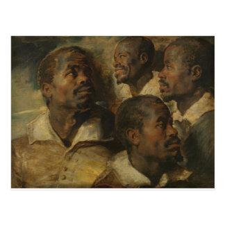 Carte Postale Peter Paul Rubens - quatre études