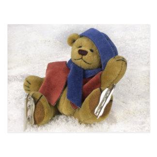 Carte Postale Petit amusement d'hiver d'ours